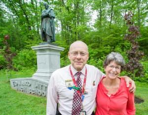 ELHS Assistant Principals, Steve Galway and Leslie Morrill. PHOTO CREDIT: RUSS DILLINGHAM/SUN JOURNAL